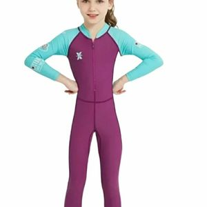 Girls One-piece Pink and Blue Swim suit size 6